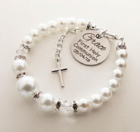 First Holy Communion Personalized Bracelet - Boxed
